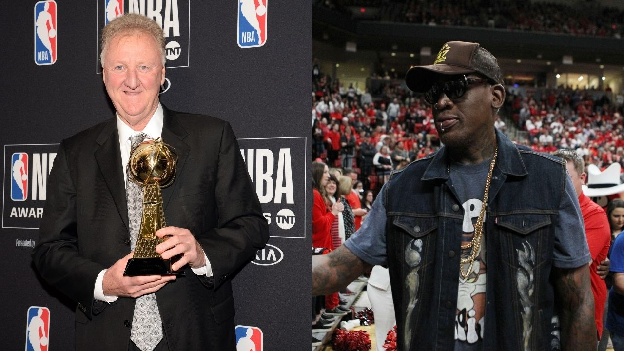 """""""Larry Bird schooled me in our first matchup ever"""": Dennis Rodman reveals how the Boston Celtics legend spoke trash and defeated The Worm in their first-ever meeting in the league"""