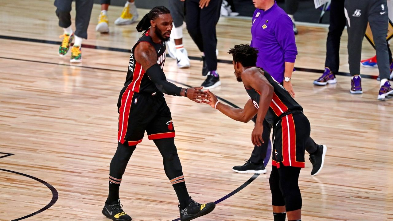 """""""I've been busting your a** since school"""": Miami Heat teammates Jimmy Butler and Jae Crowder would often have """"borderline uncomfortable"""" trash talk during practice in the NBA Bubble"""