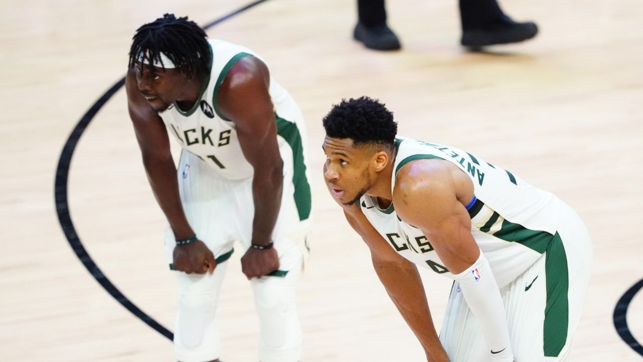 """""""I know Jrue Holiday will be there when we need him the most"""": Bucks superstar Giannis Antetokounmpo comes out in support of his teammate despite his poor performances in the 2021 NBA Finals"""