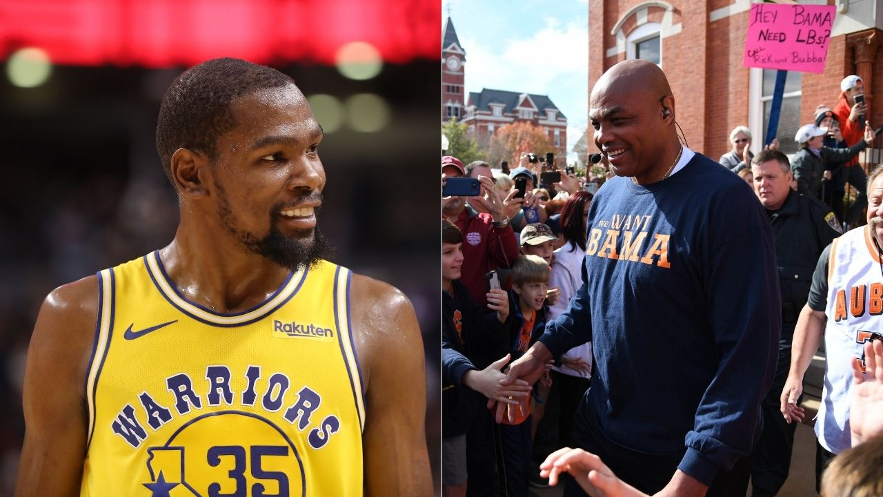 """""""Kevin Durant, a happy meal won't hurt you"""": When Charles Barkley roasted the then-Warriors star after he gave his game-worn jersey to Drake following a 51-point game vs Raptors in 2018"""
