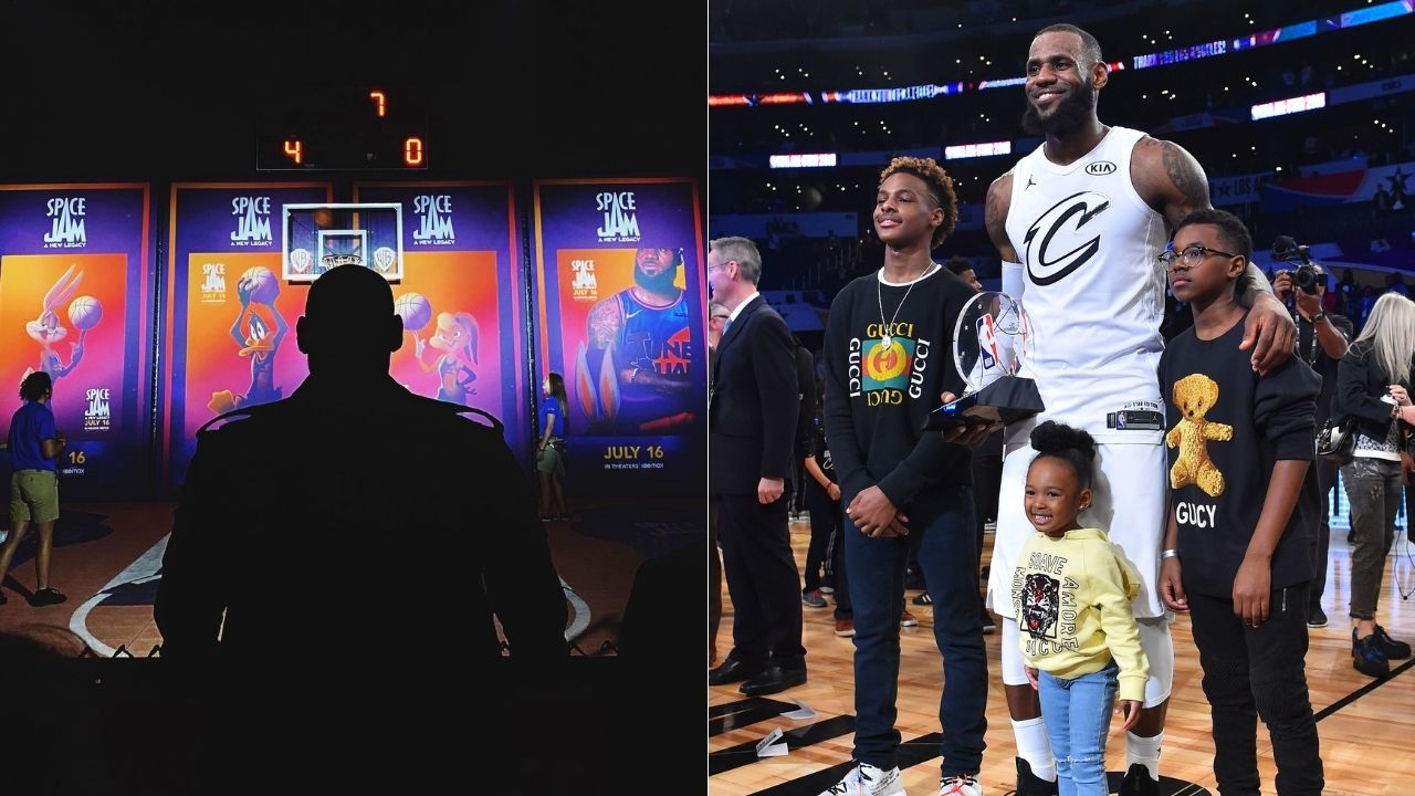 """""""Bryce James is almost as tall as elder brother Bronny?"""": Lakers megastar LeBron James' youngest son looked as tall as his brother at Space Jam event"""