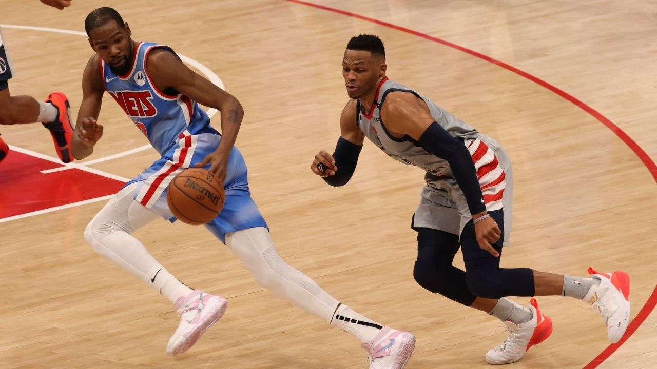 """""""Russell Westbrook or no, the Nets would beat the Lakers in a 7 game series"""": Kevin Durant still holds the edge over his former OKC teammate and LeBron James"""