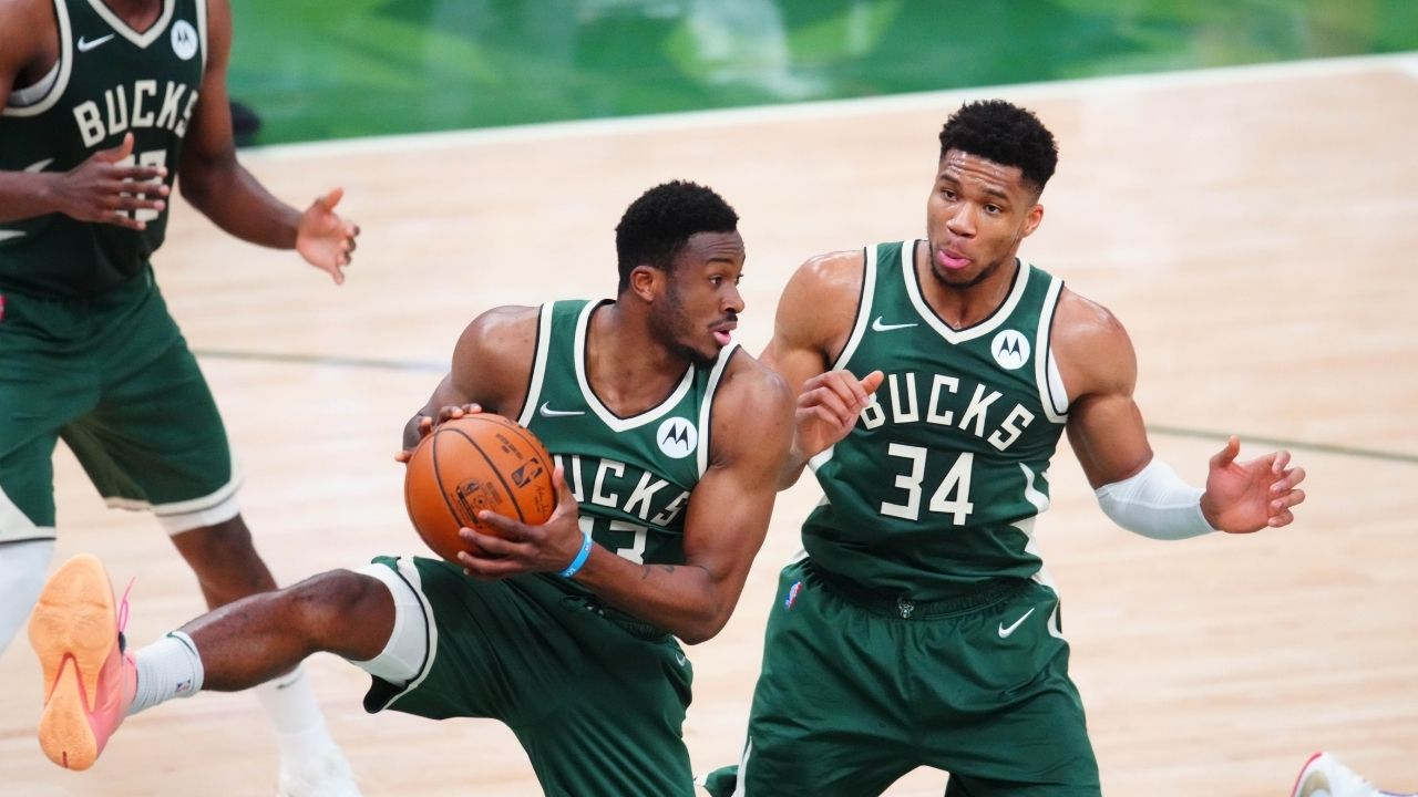 """""""Don't let Giannis smoke a cigar!"""": Thanasis Antetokounmpo hilariously doesn't let the Bucks Finals MVP emulate LeBron James following Game 6 victory over Chris Paul and the Suns"""