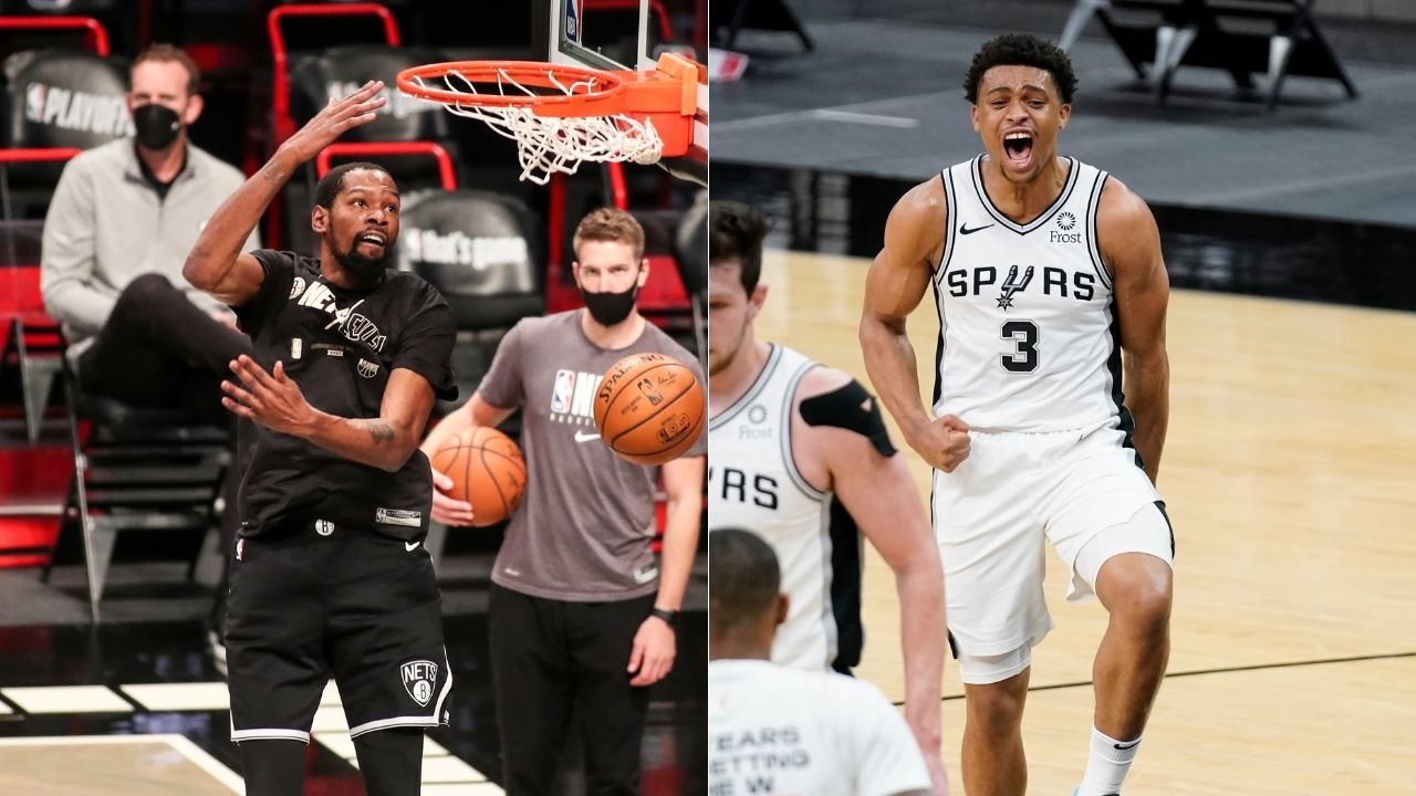 """""""When you talk about scorer, Keldon Johnson is it"""": When Kevin Durant hyped up the young Spurs star as a high school senior before Greg Popovich took him in 2019 NBA Draft"""