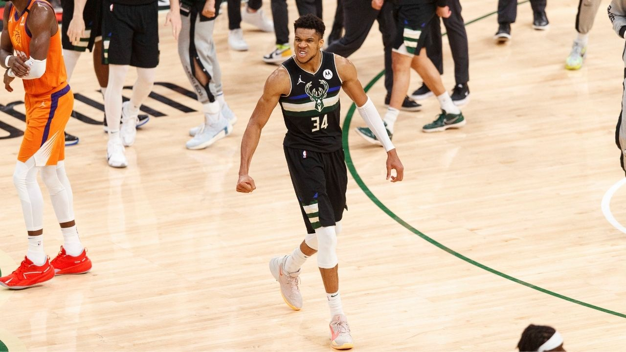 """""""Giannis is a monster!"""": CJ McCollum couldn't help but admire the Greek Freak as the Bucks raised their first championship in 50 years"""