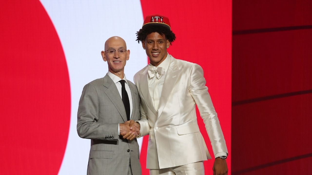 """""""Only watched LeBron James, Ben Simmons really hard"""": Hawks NBA Draft pick Jalen Johnson lists out the 4 NBA stars he studied"""