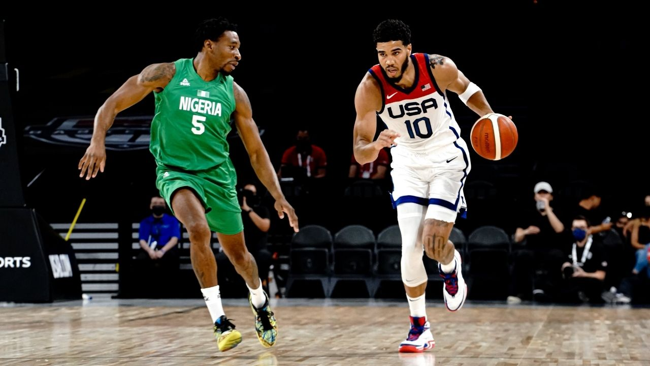 """""""We have to play better"""": Jayson Tatum gives an honest take after Team USA shockingly loses to Nigeria in their exhibition game"""