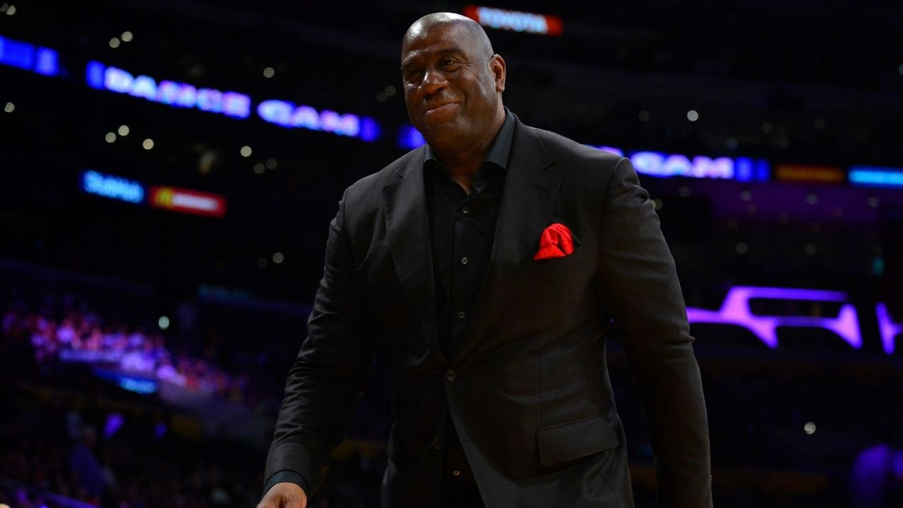 """""""What Magic Johnson didn't do right"""": When Lakers legend heartily laughed at his own failed talk show while promoting his 2021 Netflix documentary on Jimmy Kimmel Live"""