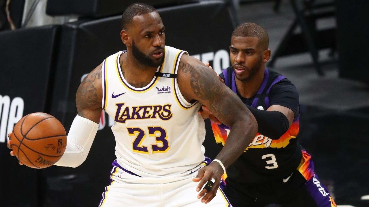 """""""Chris Paul was there at my first finals, this is me giving back to him"""": LeBron James explains why he was at NBA Finals Game 5 cheering for the Suns superstar"""