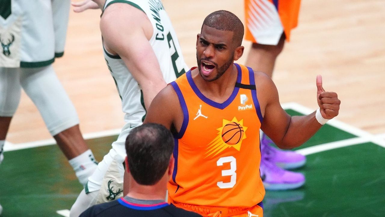 """""""Chris Paul has become a turnover machine"""": NBA fans react to the Suns 'point God's' egregious Game 4 performance in loss to Giannis and the Bucks"""