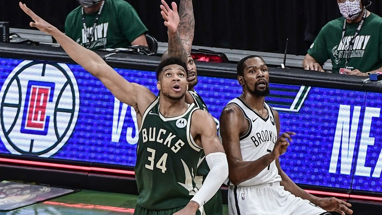 """""""Kevin Durant's two rings are worse than Giannis' one ring"""": Nets superstar likes tweet downplaying Bucks Finals MVP's win over Chris Paul and Suns"""