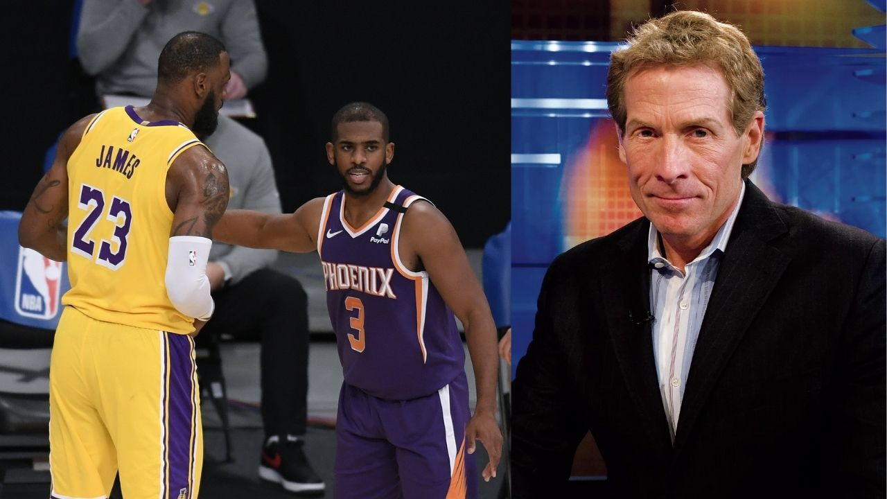 """""""LeBron James chose Damian Lillard over Chris Paul?!"""": Skip Bayless blasts the Lakers' star for trying to upstage his close friend on one of the biggest nights of his career"""