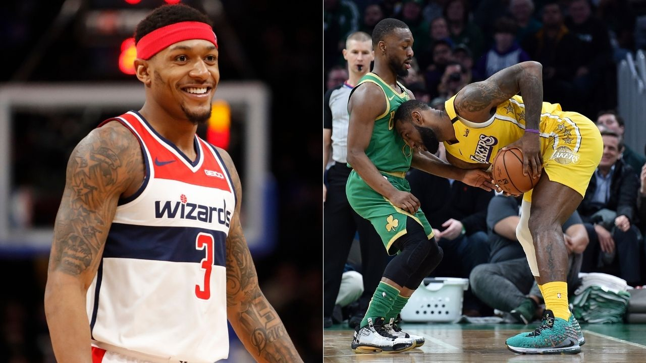 """""""LeBron James, Dwyane Wade, Chris Bosh and that Heat team gave me my 'Welcome to the league' moment"""": Bradley Beal recalls how D-Wade got him to bite on many pump fakes in his NBA preseason debut"""