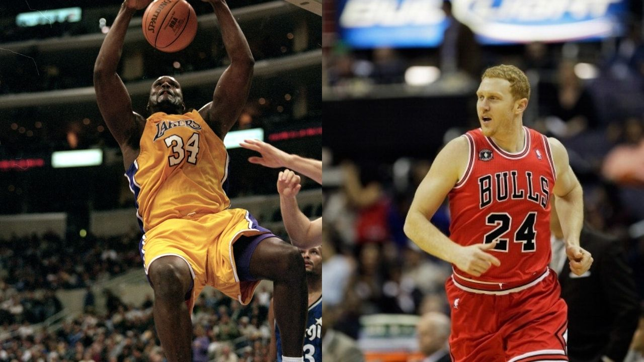 """""""Guarding Shaquille O'Neal made me want to quit the NBA"""": Brian Scalabrine claims the Lakers legend was the only human being he was ever afraid of"""