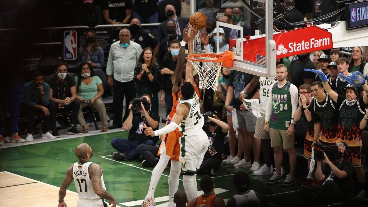"""""""Giannis Antetokounmpo's block on Deandre Ayton was the best block of all time."""": Pat Connaughton snubs LeBron James' 2016 Finals block after Greek Freak's incredible block in NBA Finals Game 4"""