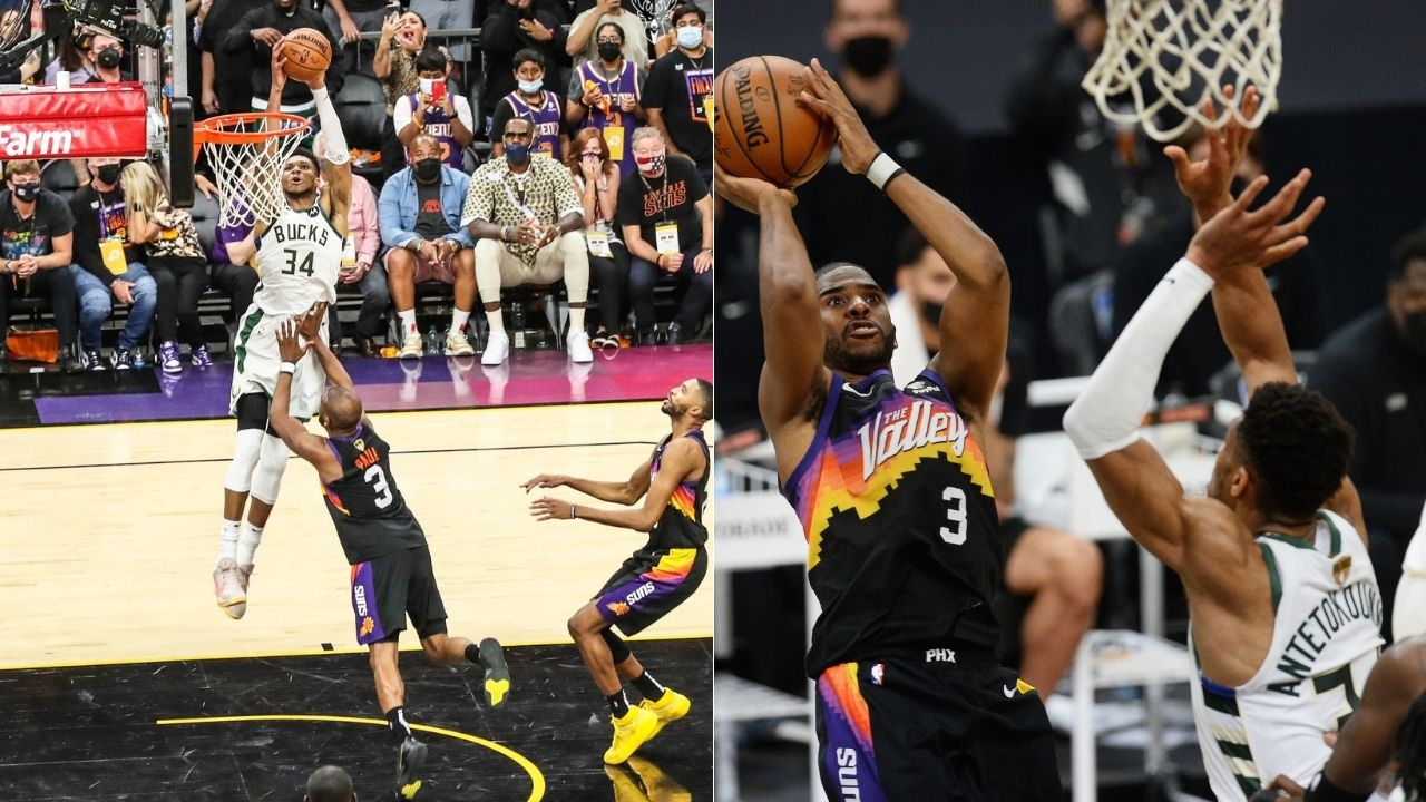 """""""Chris Paul got dunked on by Giannis as LeBron James watched"""": NBA Fans react to Bucks superstar's signature dunk to win NBA Finals Game 5"""