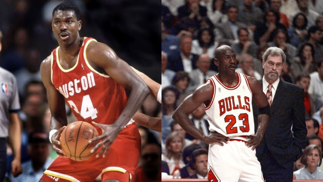 """""""Hakeem Olajuwon isn't a top tier center because he's a small forward"""": When Michael Jordan had an outlandish take on the Rockets superstar in 1996"""