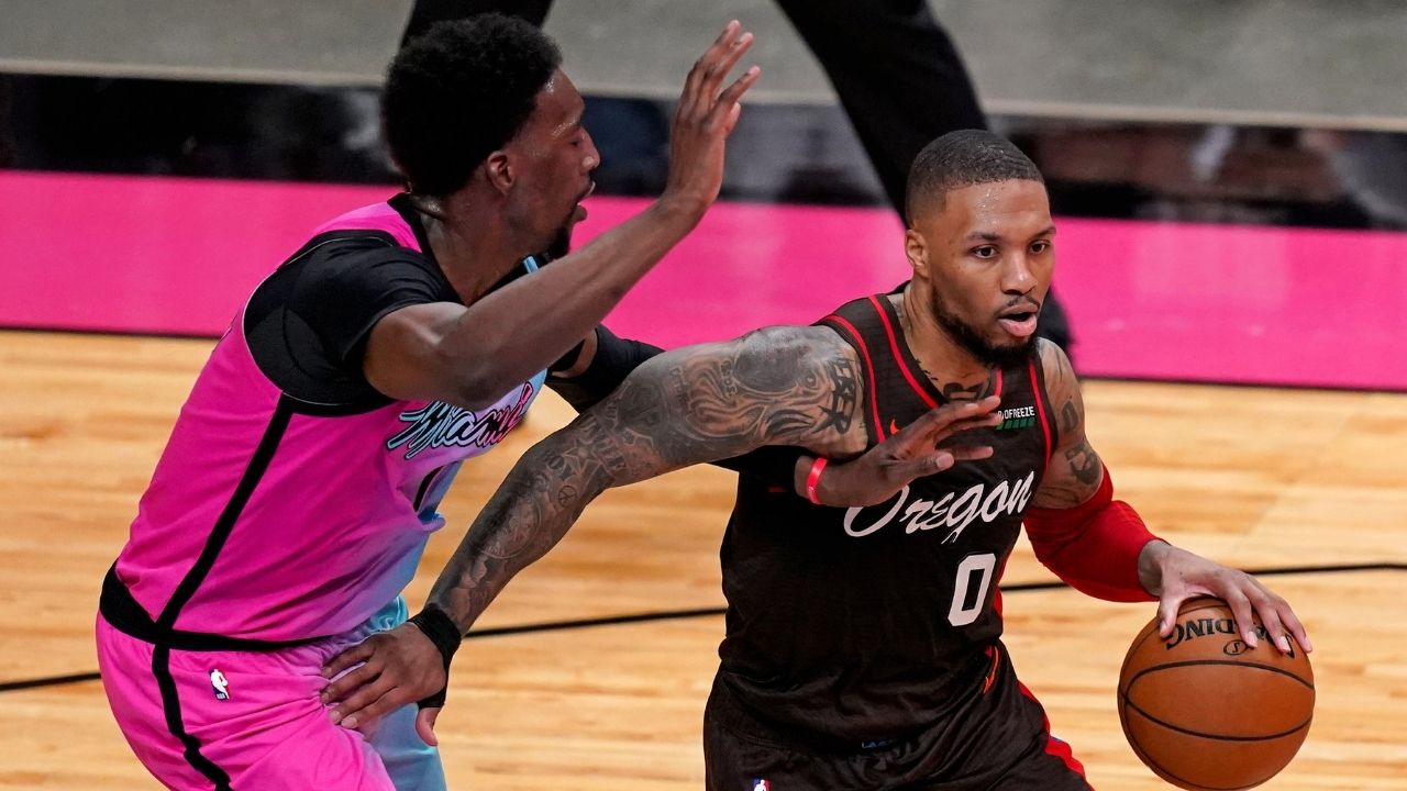 """""""Keep this sh*t off big dog desk, Bam"""": Damian Lillard hilariously refuses to side with Kevin Durant or the Heat star in their ball beef at Tokyo 2020"""