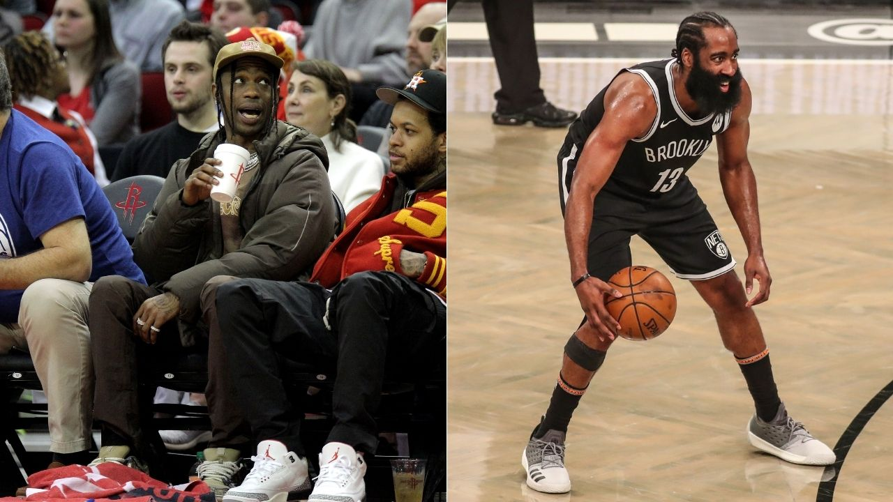 """""""James Harden has been to more parties than he has won playoffs games in the last 2 years"""": NBA Fans troll the Brooklyn Nets superstar for partying with rappers Travis Scott, Kid Cudi and Lil Uzi"""
