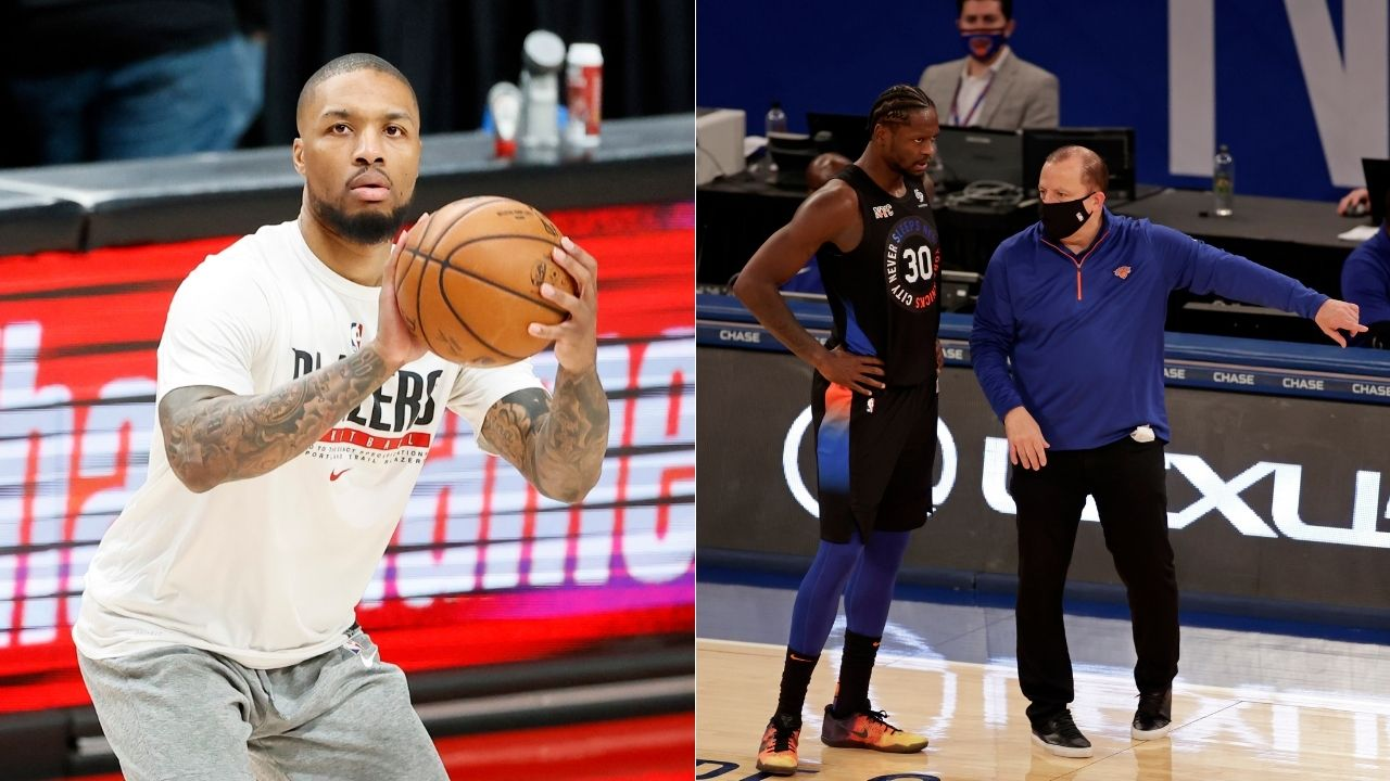 """""""Stephan A Smith with one of the worst Knicks takes of all time"""": NBA Fans ridicule the ESPN analyst for his foolish trade idea sending Damian Lillard to New York Knicks for their entire starting five"""