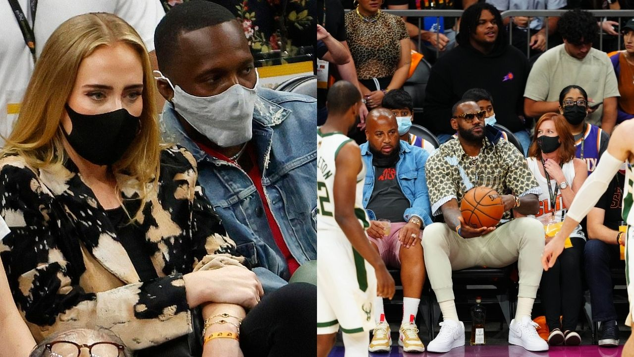 """""""LeBron James' agent is dating Adele"""": Rich Paul brought the Grammy winning artist to the Bucks Game 5 win over Chris Paul and Suns"""