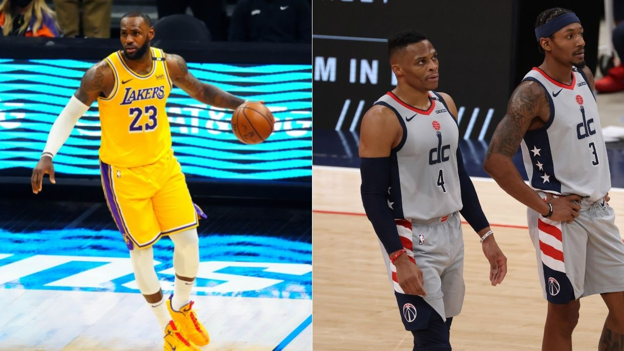 """""""LeBron James want to team up with star Wizards guard"""": NBA insider reports that Lakers could trade Kyle Kuzma, Dennis Schroder and THT for Washington's best player"""