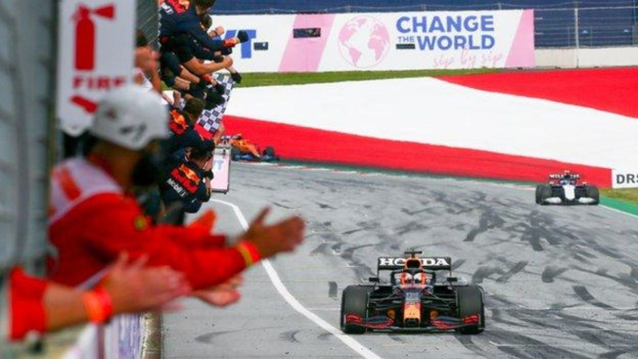 """""""Okay, if it's not allowed, I won't do it again"""" - Max Verstappen after FIA 'bans' celebratory burn-outs"""