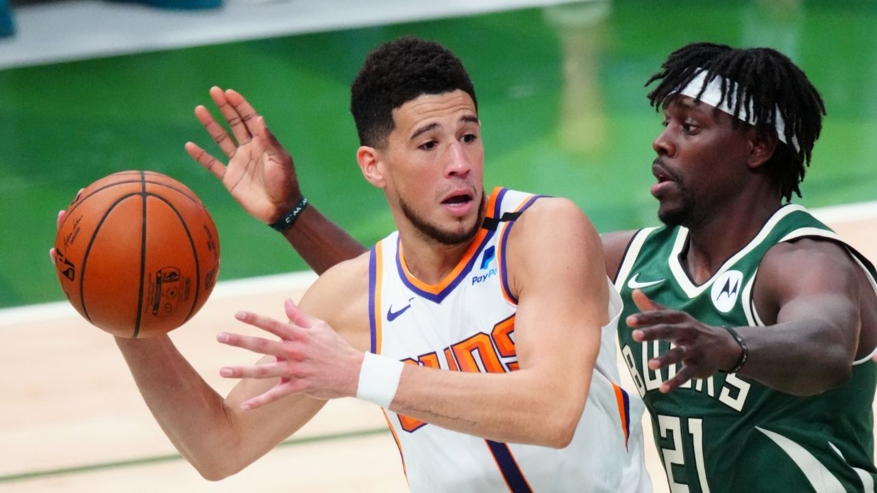 """""""Skip Bayless delivered some actual analysis?!"""": The NBA community goes crazy as the analyst announces his thoughts on Devin Booker in game 3 of the NBA Finals"""