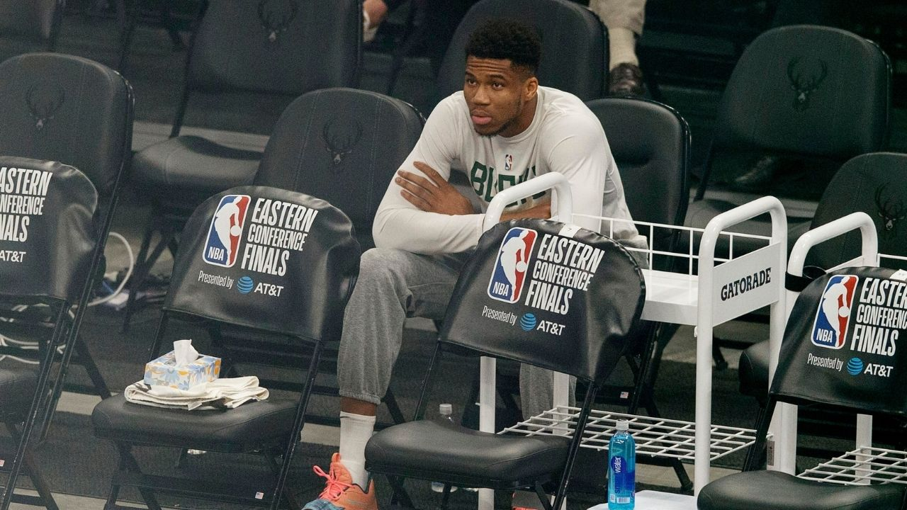 """""""I lost my room keys, so I'll have a conversation with you"""": Giannis Antetokounmpo jokes around with reporters before Game 3 of the NBA Finals"""