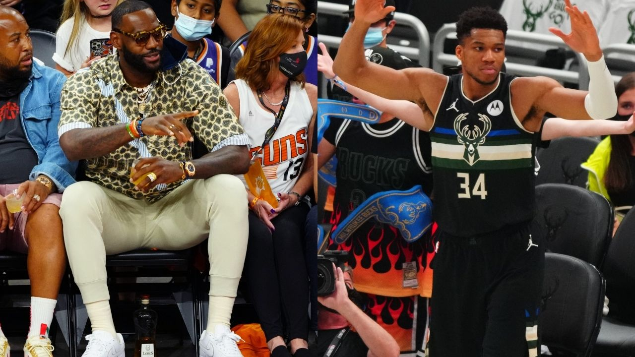 """""""Greek Freak is HOOPING!"""": LeBron James shockingly shows his support for Giannis and the Bucks during Game 6 against Chris Paul and the Suns"""