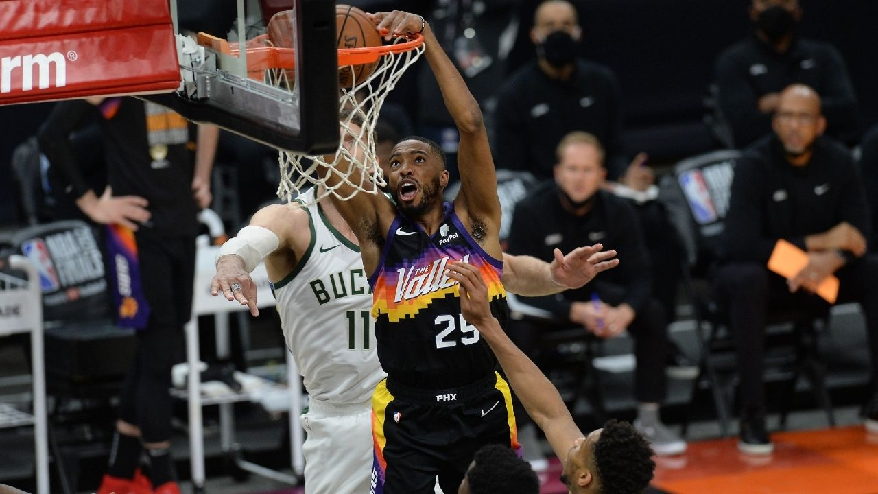"""""""Hey Ronnie2K, get these Adidas off my feet """": Mikal Bridges roasts NBA 2K for messing up the Phoenix Suns swingman's shoes on their game"""