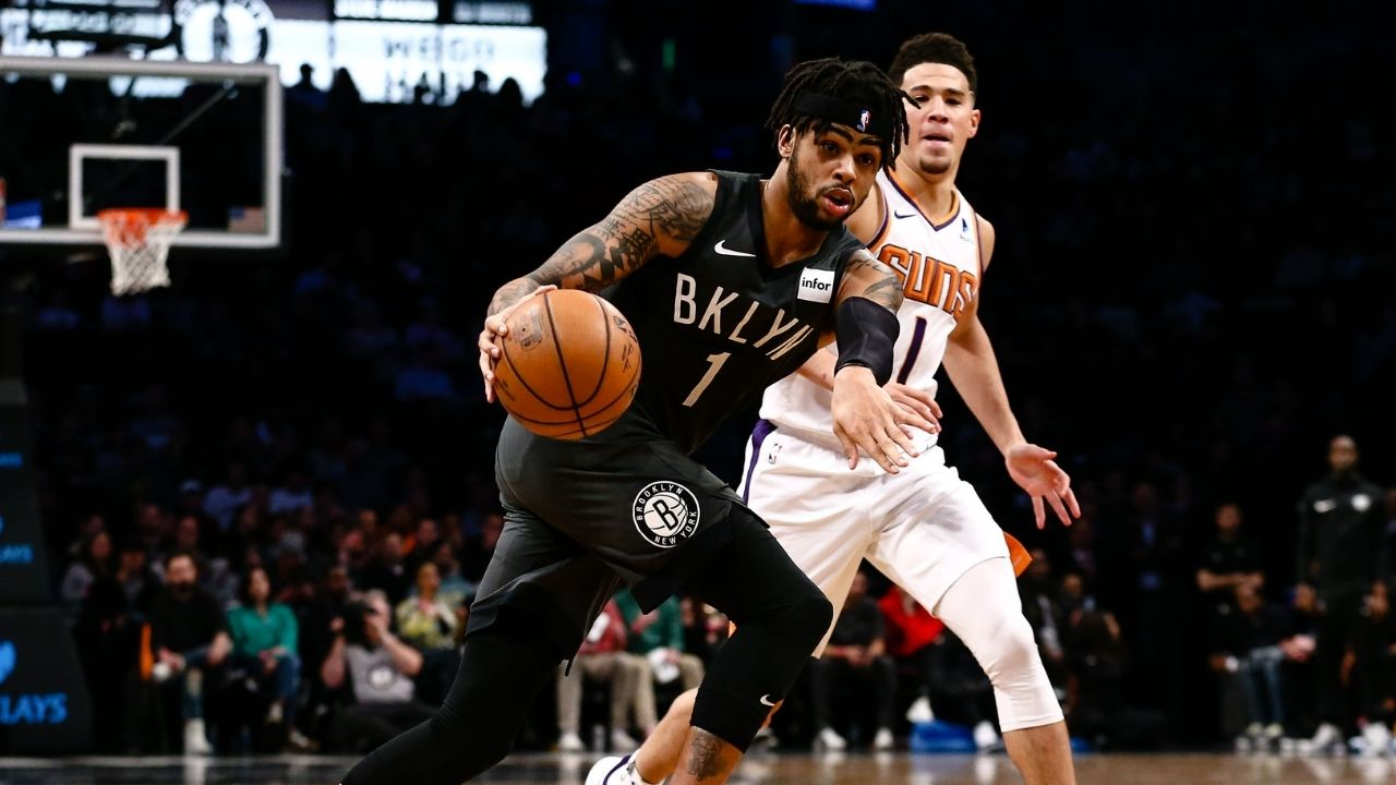 """""""D'Lo my favorite player"""": Devin Booker and D'Angelo Russell exchange pleasantries after Kendall Jenner's flame makes his first NBA Finals"""