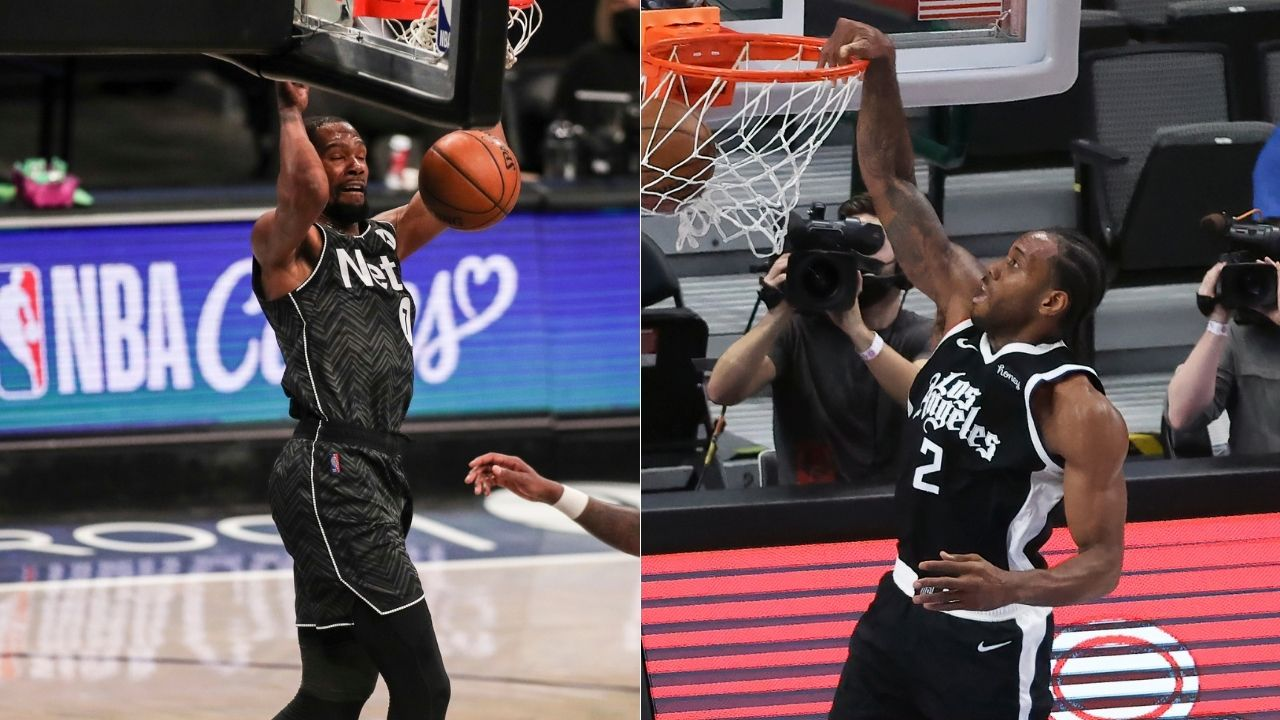 """""""Kawhi Leonard is probably the player I use most on NBA 2K"""": Kevin Durant reveals his gaming preferences after being named a cover athlete for the 75th Anniversary Edition alongside Kareem and Dirk"""