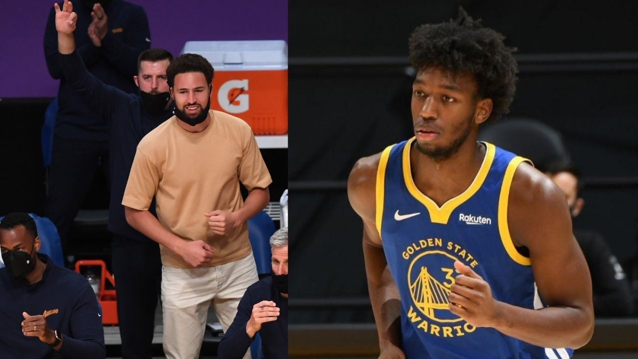 """""""James Wiseman don't know a damn thing... I'm teaching him the ropes"""": Klay Thompson takes out the Warriors' rookie on his boat"""