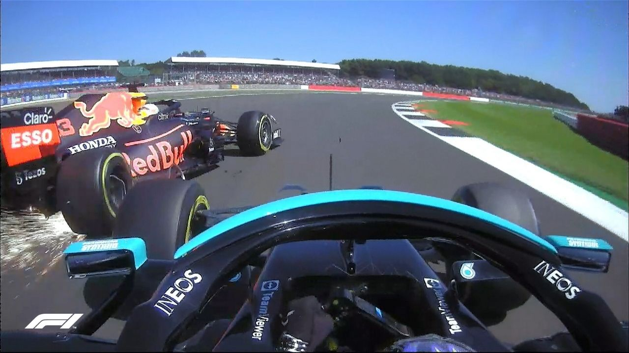 """""""Scary, scary, scary impact""""- Max Verstappen out of British GP after nudge by Lewis Hamilton"""