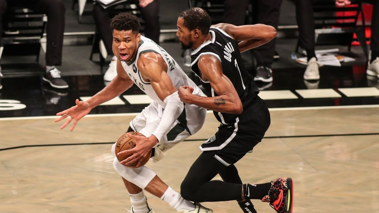 """""""Giannis Antetokounmpo has more real rings than you now"""": Kevin Durant mocked by NBA fans for not congratulating Bucks superstar in tweet aimed at Milwaukee's win"""
