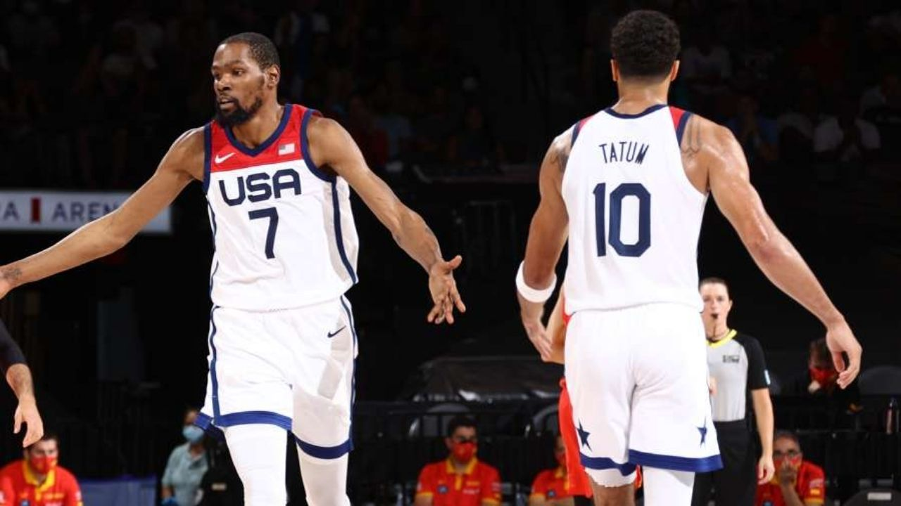 """""""I'm old as hell"""": From being an idol to the gold-winning teammate, Kevin Durant shares a post on Instagram with Jayson Tatum"""