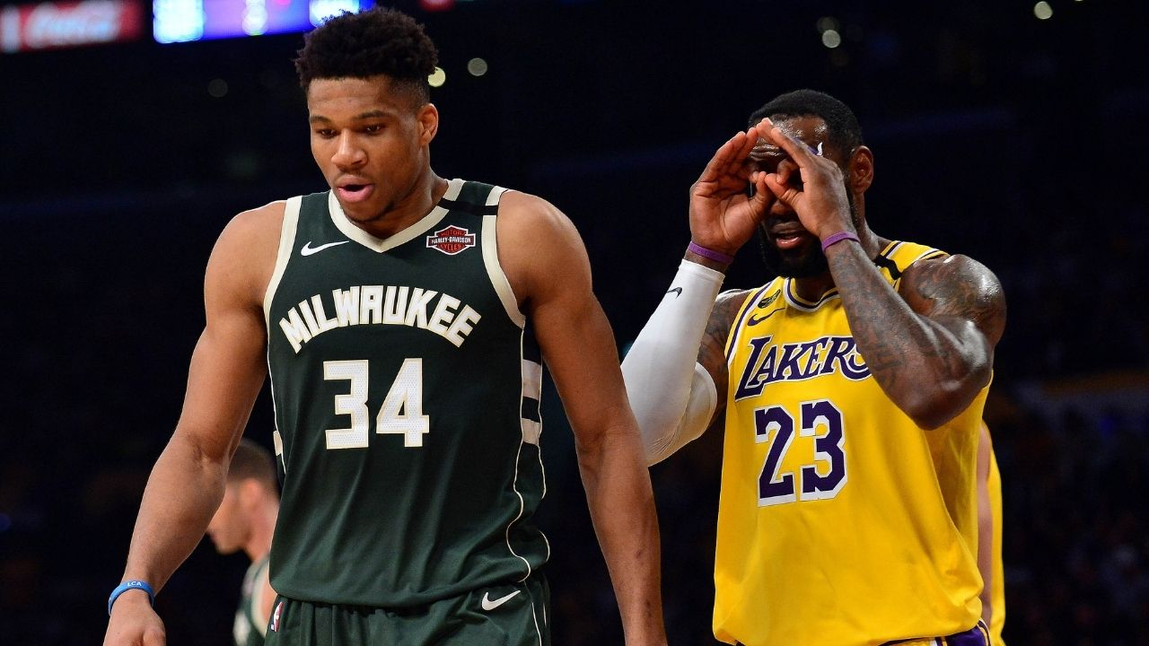 """""""ESPN lied to us to put LeBron James alongside Giannis Antetokounmpo"""": NBA fans blast ESPN on ABC for posting an incorrect graphic involving the Lakers and Bucks MVPs"""