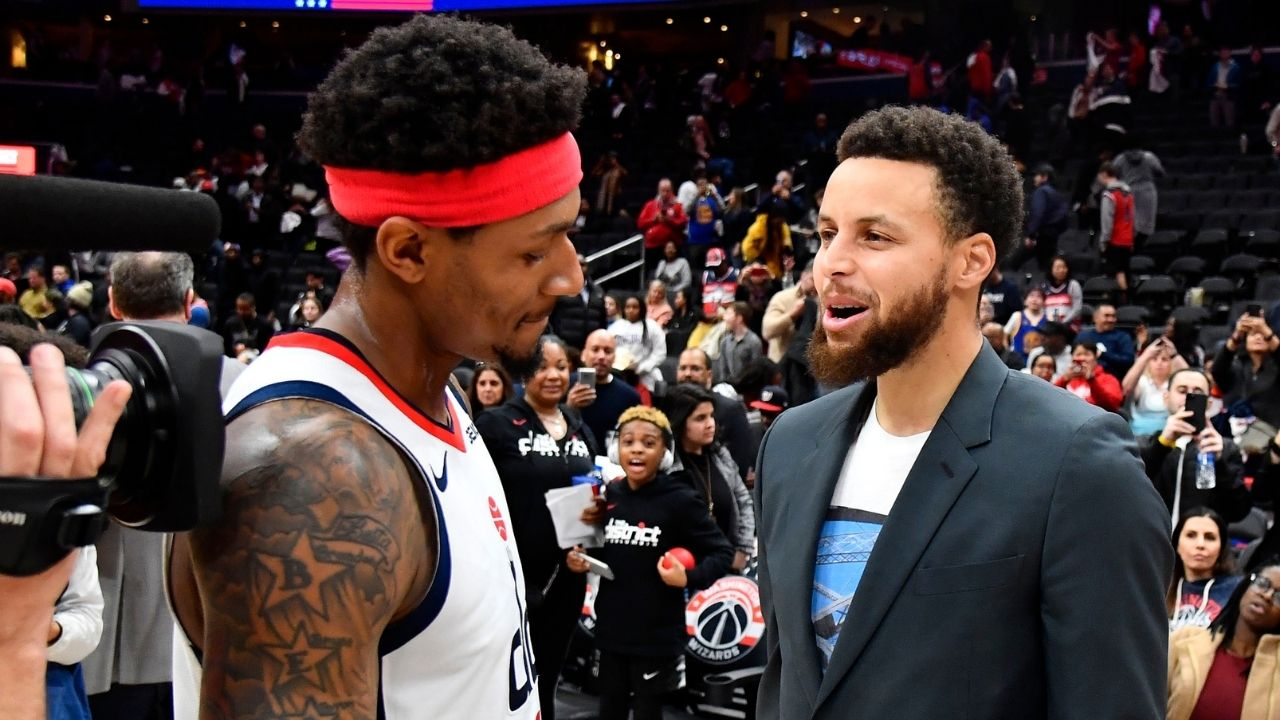 """""""We want Bradley Beal out here with us in Golden State!"""": The Athletic reveals Stephen Curry, Klay Thompson, and Draymond Green have demanded for the front office to bring the Wizards star on board"""