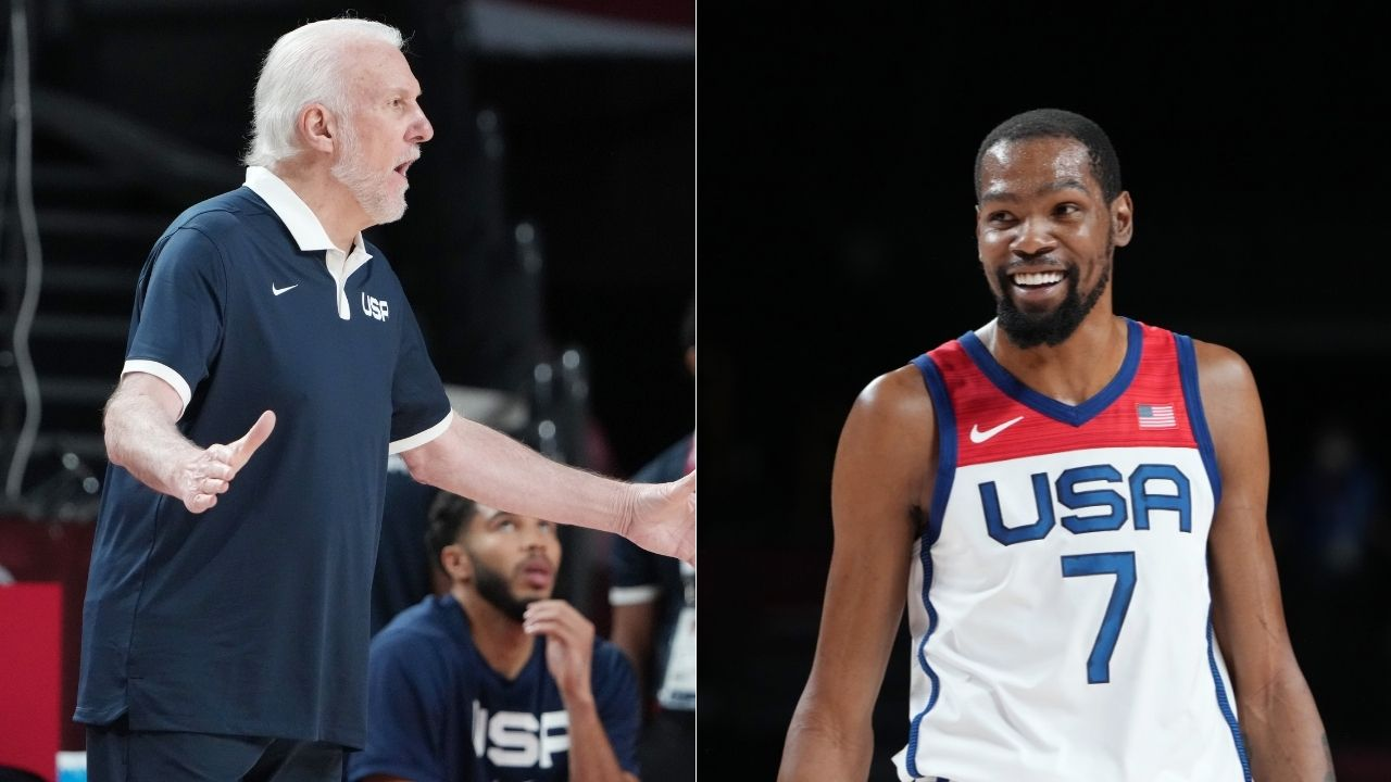 """""""Gregg Popovich challenges your IQ for the game every day"""": Kevin Durant lavishes effusive praise on Spurs and Team USA head coach ahead of Tokyo 2020"""