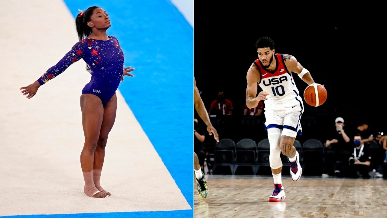"""""""Simone Biles is a hero"""": Jayson Tatum comes to the gymnast's defence after Charlie Kirk called her """"weak"""" for withdrawing from her team's event due to mental health"""