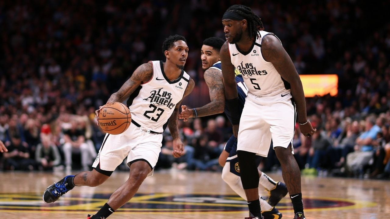 """""""That's a wrap!"""": Lou Williams reacts to Montrezl Harrell breaking the backboard in a ProAM game and NBA Twitter can't stop laughing"""