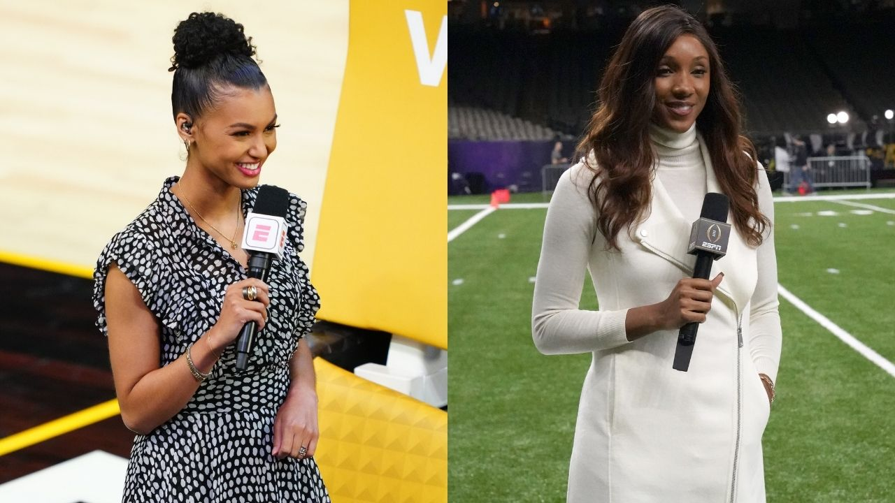 """""""Welcome Malika Andrews for the first time in an NBA Finals"""": Maria Taylor chalks it up with Andrews at the Suns-Bucks Game 1 following Rachel Nichols's dismissal as a sideline reporter"""