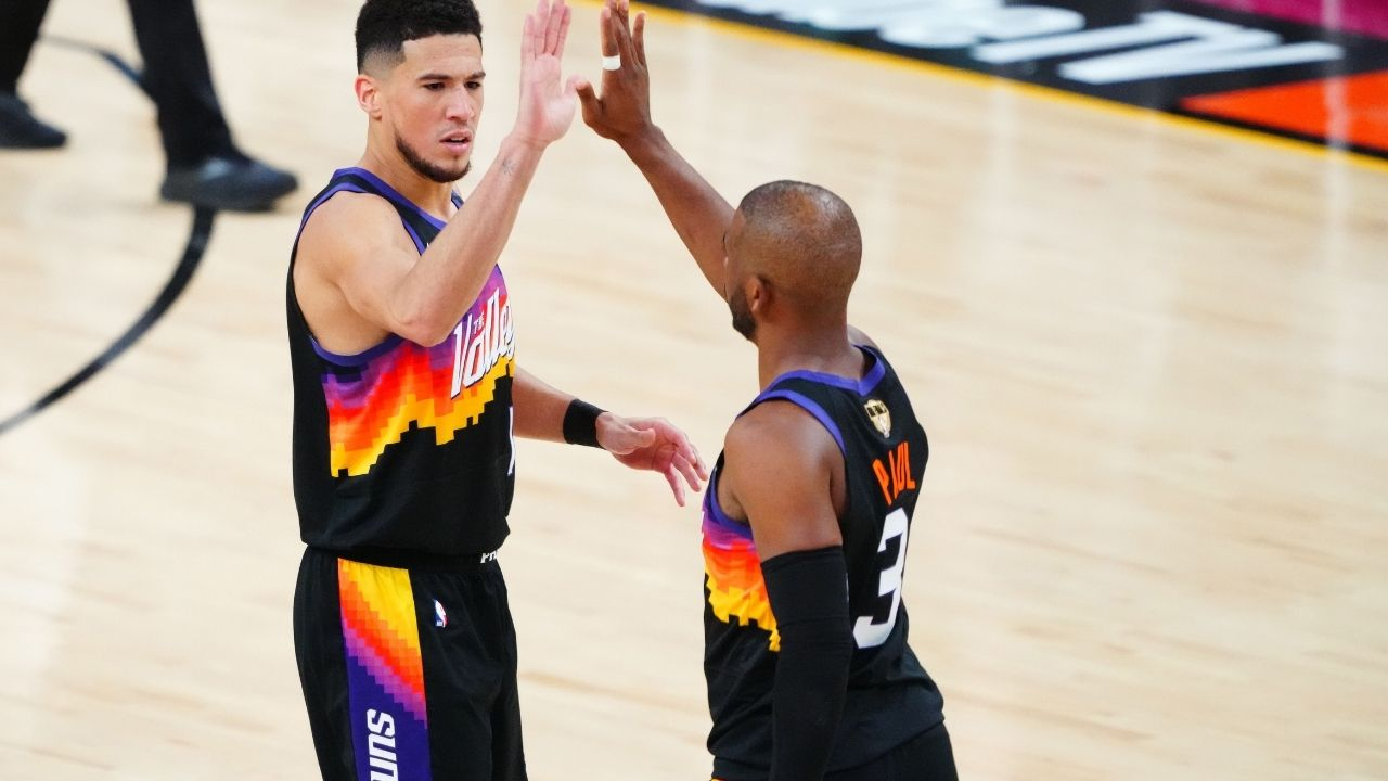 """""""Chris Paul is the greatest leader to play this game"""": Devin Booker gives some huge props to the Phoenix veteran after their Game 1 NBA Finals win against Giannis' Bucks"""