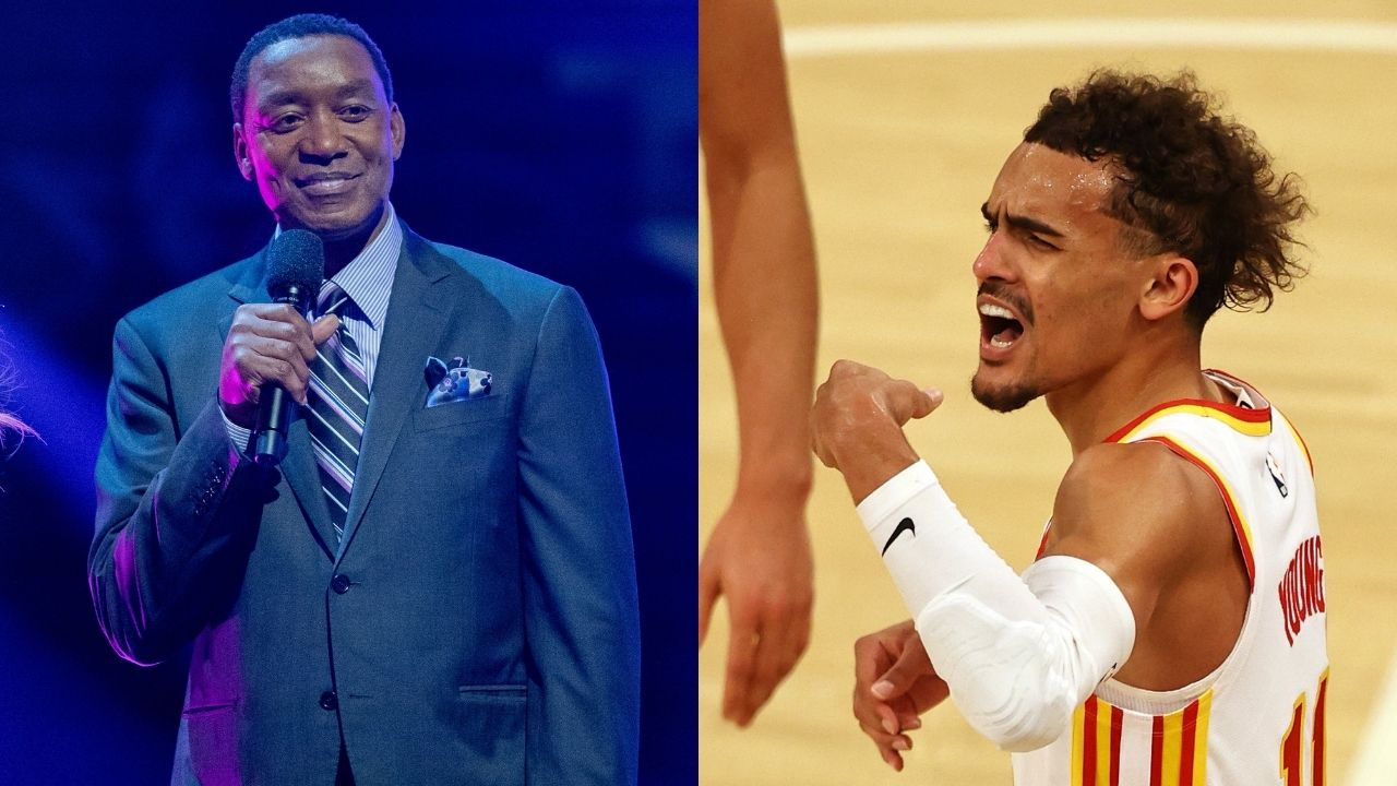 """""""Met the criteria to be selected to Team USA, but I wasn't"""": Isiah Thomas hilariously reacts to Trae Young referencing the Pistons legend's feud with Michael Jordan after being snubbed from Team USA"""