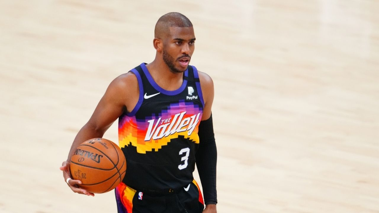 """""""I'll shoot Chris Paul way up on my all-time leadership list"""": Skip Bayless promises to increase the Suns veteran's rank in his all-time leadership list if they close out the series against the Bucks"""