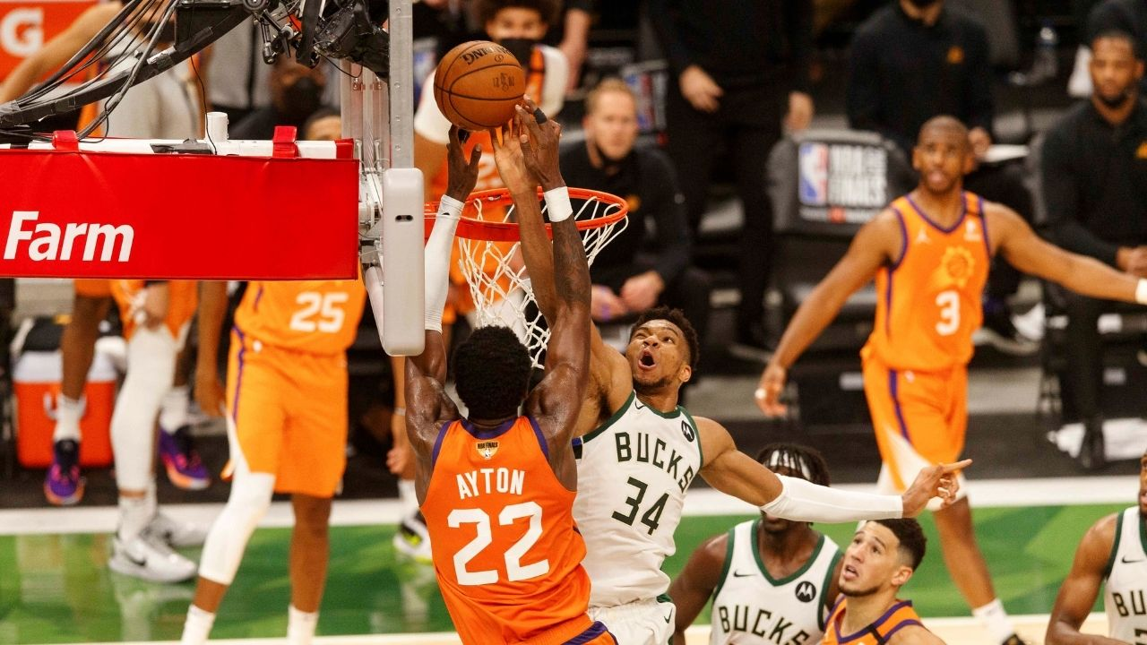 """""""Giannis block on Deandre Ayton is completely overrated!"""": Skip Bayless belittles the 2x MVP for his clutch block on the Suns center in Bucks Game 4 win"""