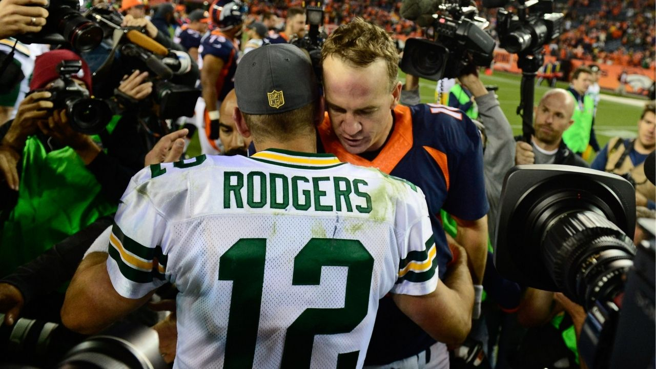 Aaron Rodgers Trade Rumors: Peyton Manning Says 'My gut is Aaron Rodgers is not coming to the Denver Broncos.'