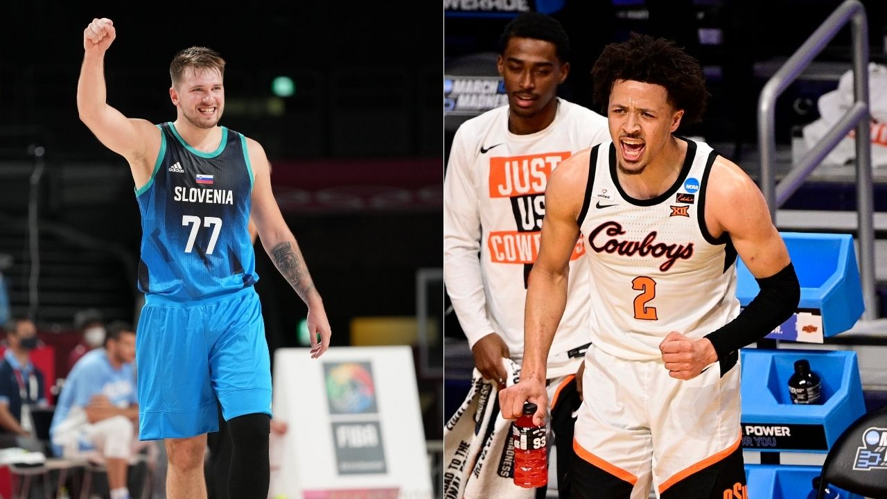 """""""The way Luka Doncic and I approach basketball is similar"""": Cade Cunningham lavished praise on the Mavericks superstar on JJ Redick's podcast ahead of 2021 NBA Draft"""