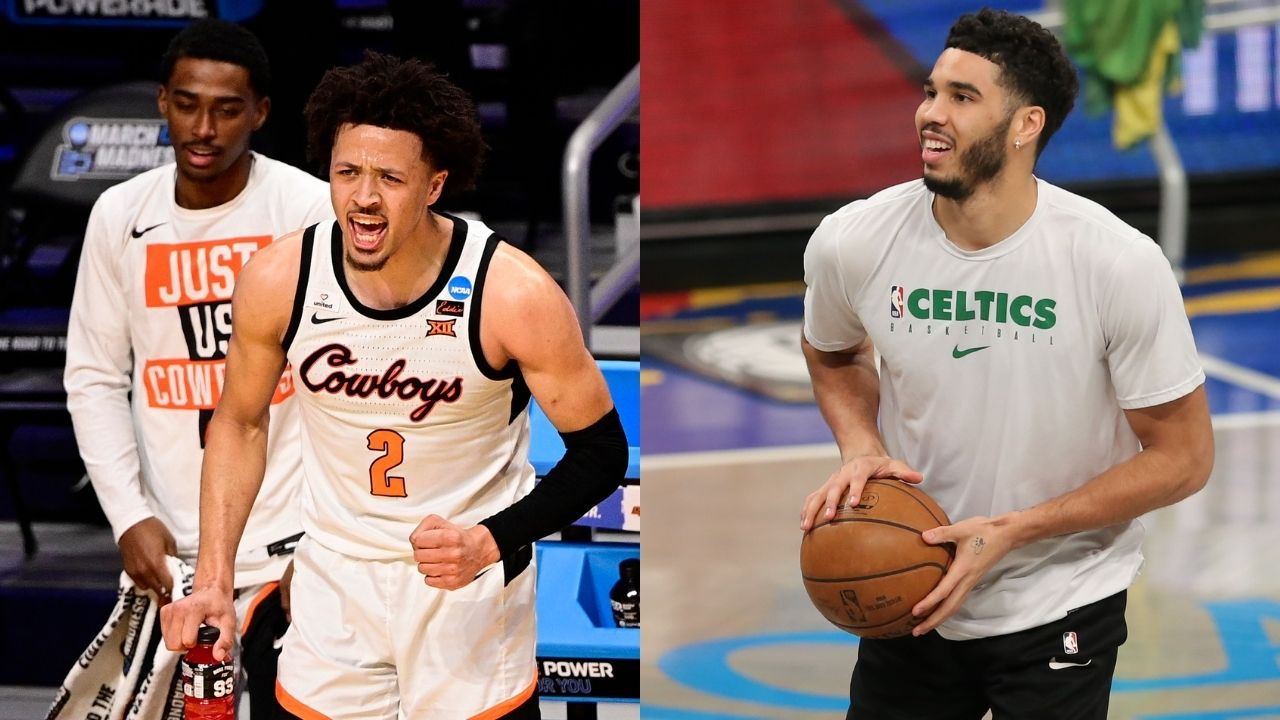 """""""Jayson Tatum is the prototype for what I want to be"""": Cade Cunningham has high hopes for himself ahead of the 2021 NBA Draft as he compares Celtics superstar to the likes of Giannis and Kawhi Leonard"""
